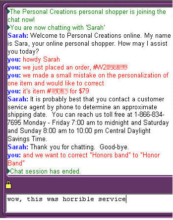 Another Example Of Online Chat Being The Antithesis Of Customer
