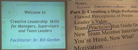 creative leadership fail mispelled word