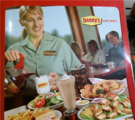 The new Denny's Menu girl