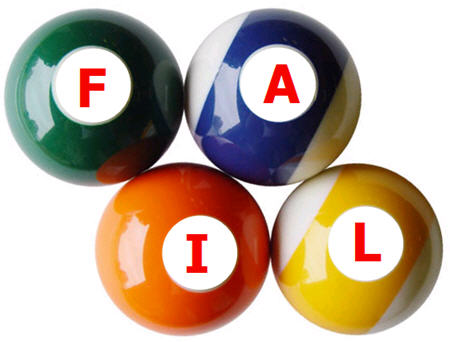 YOU FAIL billiard balls pool
