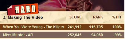 guitar hero hard killers 100% low ranking