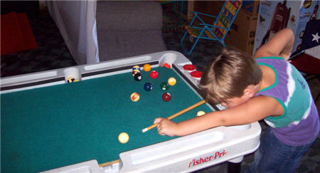 jaden playing pool