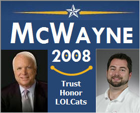 john mccain and whall is mcwayne 2008
