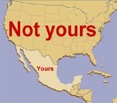 mexican map not yours yours