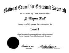 ncgr level 1 certificate