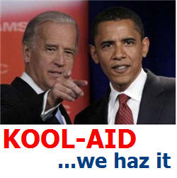 obama biden campaign poster kool aid koolaid we haz it lolcats