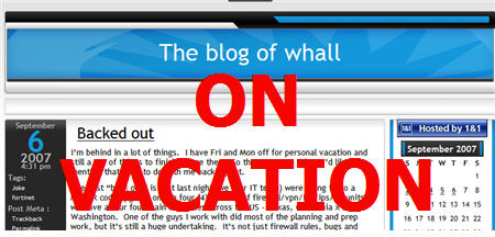 blog of whall on vacation