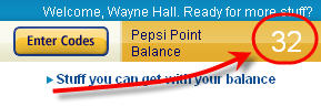 pepsistuff points