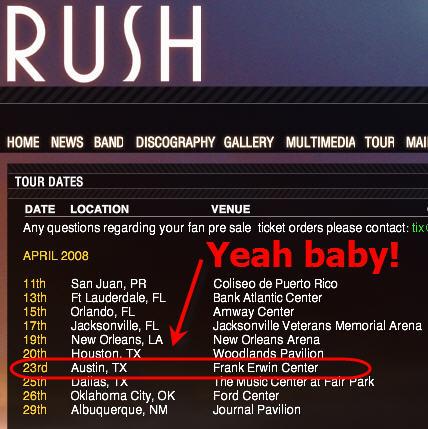 rush tour 2008