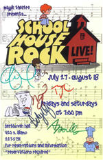 Schoolhouse Rock Magik Theater Flyer Signatures