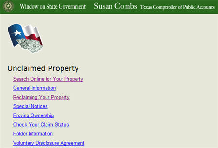 Unclaimed Property Claims Texas