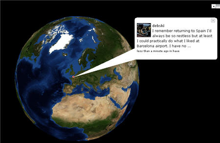 twittervision 3d earth view
