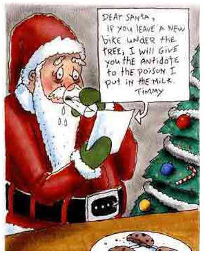 Xmas humor letter to santa the blog of whall spiritdancerdesigns Images