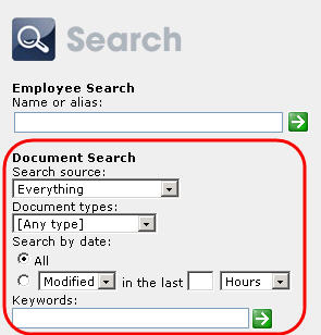 sharepoint search document piece