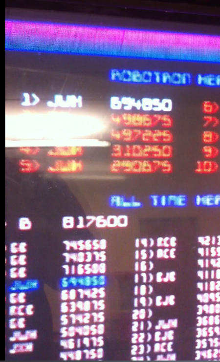 694,850 points on Robotron 2084